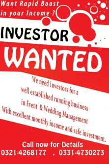 Investor Required, Lahore – Financial Planners Mayo Gardens (Lahore)